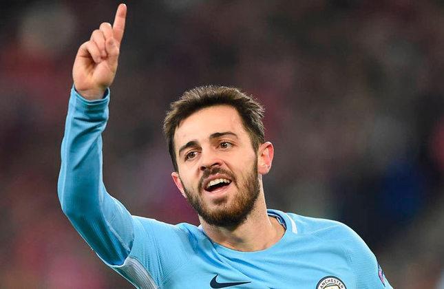 70 milhões de euros (R$ 454,9 milhões) - Bernardo Silva viu seu valor cair desde que chegou à Premier League, mas segue como um dos destaques do campeão inglês