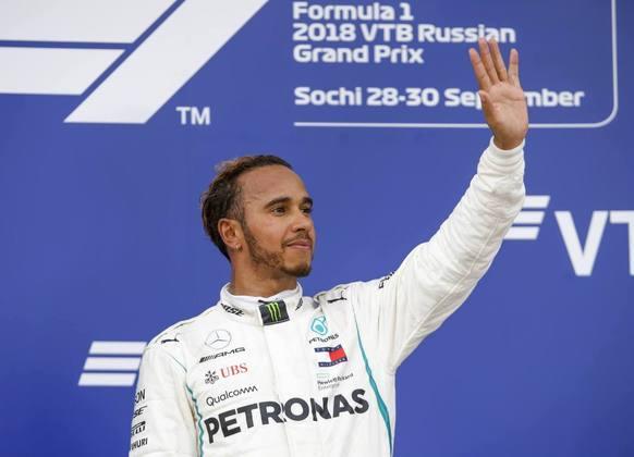 70 - No GP da Rússia de 2018, uma ordem de equipe fez Lewis Hamilton ultrapassar Valtteri Bottas e conquistar a vitória