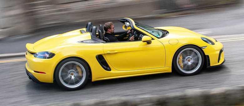 Porsche 718 Spyder é a configuração mais jovial para condução mais esportiva