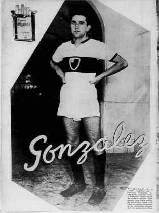 8º) Alfredo González – 31 gols