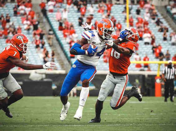 8 – Carolina Panthers: Kyle Pitts (TE): O atleta da Flórida é um pesadelo para qualquer marcador e será uma válvula de escape para Bridgewater... ou o próximo QB dos Panthers.