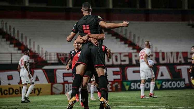 8º colocado – Atlético-GO (14 pontos) – 9 jogos / 3.6% de chances de título; 34.2% para vaga na Libertadores (G6); 7.2% de chance de rebaixamento.