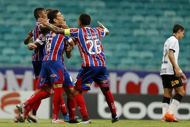 8º colocado – Bahia (17 pontos) – 12 jogos / 1.1% de chances de título; 23.1% para vaga na Libertadores (G6); 8.8% de chances de rebaixamento.