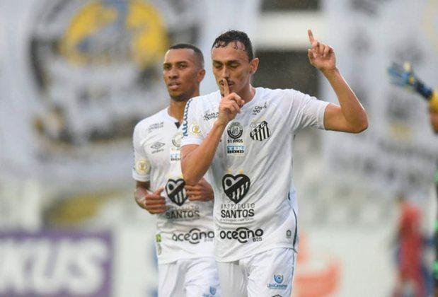8º colocado – Santos (38 pontos/25 jogos): 0,45% de chances de ser campeão; 33% de chances de Libertadores (G6); 0,038% de chances de rebaixamento.