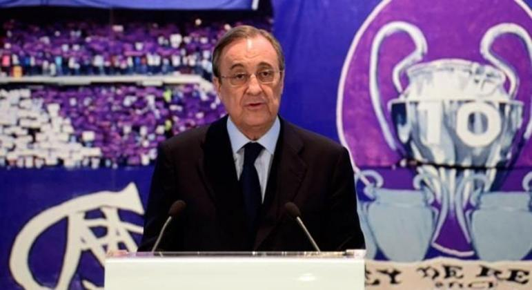 Florentino Pérez, presidente do Real Madrid, também vai comandar a Superliga.