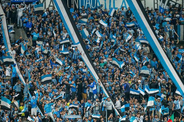 8- Grêmio - LANCE!/Ibope 2014: 6 milhões de torcedores / Datafolha 2019: 4,4 milhões