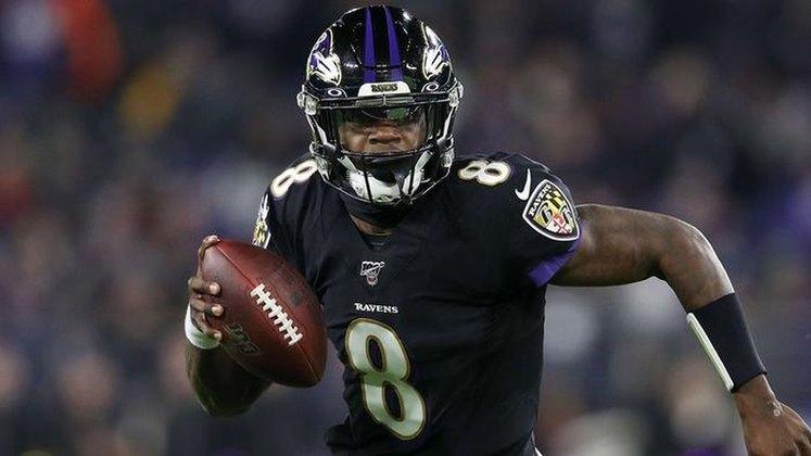 8º Lamar Jackson - Craque do Baltimore Ravens ainda não mostrou o mesmo nível de atuação que exibiu em 2019.