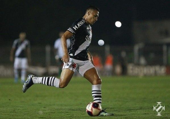 8º - Léo Jabá - Time: Vasco - Posição: Ponta Direita - Idade: 23 anos - Valor segundo o Transfermarkt: 2 milhão de euros (aproximadamente R$ 12,36 milhões)