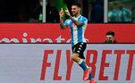 8º: Matteo Politano - Atacante - 27 anos - Último clube: Inter de Milão - Destino: Napoli - Valor do negócio: 19 milhões de euros ( aproximadamente R$ 112,68 milhões)