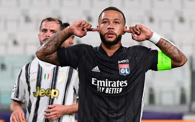 8º – Memphis Depay - O atacante holandês está em fim de contrato com Lyon e é cobiçado no mercado da bola. Depay, de 26 anos, é avaliado em 45 milhões de euros (R$ 297 milhões).