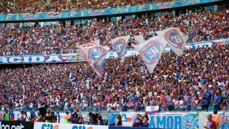 8 – Na oitava posição, o Bahia não teria faturamento de quase R$ 9,8 milhões por conta da não comercialização de 500.441 ingressos