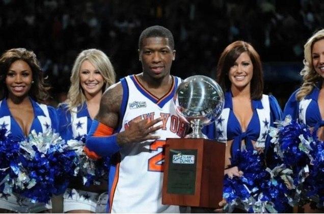 8 – NATE ROBINSON (1,75m): Desde que chegou na NBA, Robinson impressionou a todos pela sua personalidade, energia e condição atlética espetacular. O ex-armador do New York Knicks foi tricampeão do torneio de enterradas, vencendo a disputa em 2006, 2009 e 2010