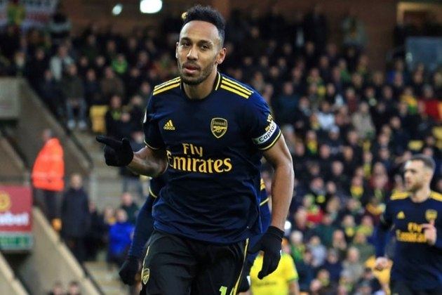 8º - Pierre-Emerick Aubameyang (Arsenal) - 19 gols – 38 pontos