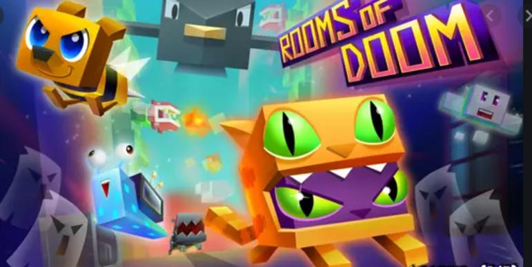 """8 – Rooms of Doom: """"É um game de corrida infinita que coloca você para explorar diversas pistas de obstáculos guiando inicialmente um gatinho robótico. Os cenários mudam o tempo todo, forçando você a se adaptar a diversas situações. Mesmo nos momentos em que os desafios se repetem, o nível de dificuldade aumenta.."""""""