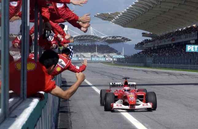8 - Vice-campeão de 2002 e 2004, Rubens Barrichello venceu 9 vezes