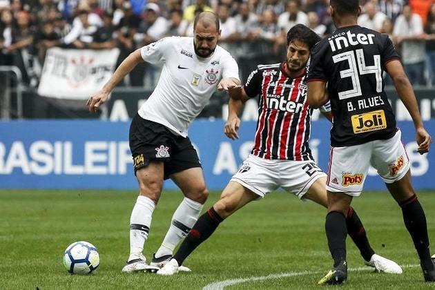 9º) 10/11/2018 - Corinthians 1 x 1 São Paulo - 33ª rodada do Brasileirão. Gols: Ralf (COR)/Brenner (SAO)