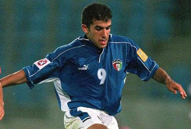 9 – Bashar Abdullah - Com a camisa da seleção do Kuwait, Bashar Abdullah fez 75 gols em 133 jogos. Assim figura na lista com justiça