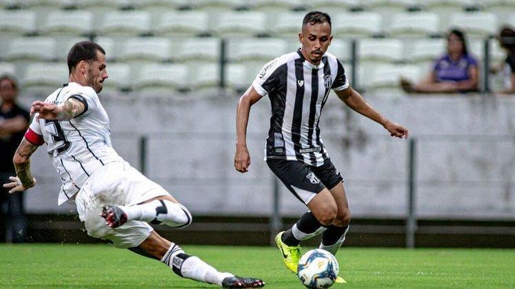 9º colocado – Ceará (45 pontos/33 jogos): 0.0% de chances de ser campeão; 5% de chances de Libertadores (G6); 0% de chances de rebaixamento.