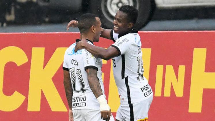 9º colocado – Corinthians (39 pontos/27 jogos): 0.059% de chances de ser campeão; 16.6% de chances de Libertadores (G6); 0.059% de chances de rebaixamento.