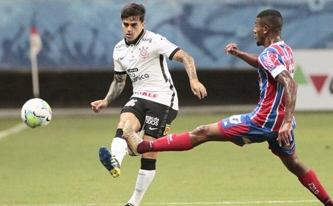 9º colocado – Corinthians (45 pontos/32 jogos): 0.0% de chances de ser campeão; 3.6% de chances de Libertadores (G6); 0% de chances de rebaixamento.
