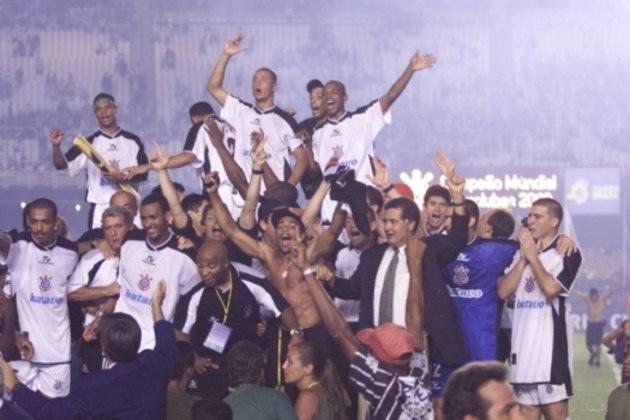 9º - Corinthians - 1 título - Em 2000, o Corinthians se sagrou campeão do Mundial de Clubes da FIFA ao bater o Vasco nos pênaltis, no Maracanã