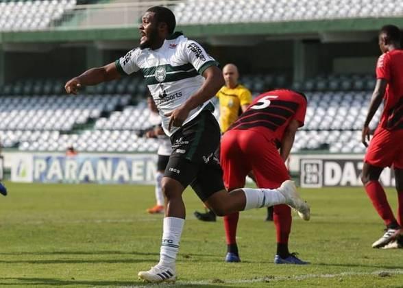 9º - Coritiba - 66,6% de aproveitamento - 12 jogos: 7 vitórias, 3 empates e 2 derrotas