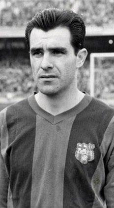 9º - Evaristo de Macedo - 1 gol a cada 147 minutos - 11 gols em 1620 minutos - clubes: Barcelona e Real Madrid