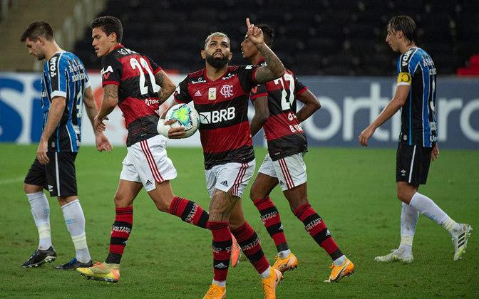 9º - Gabigol - Flamengo - 2 gols
