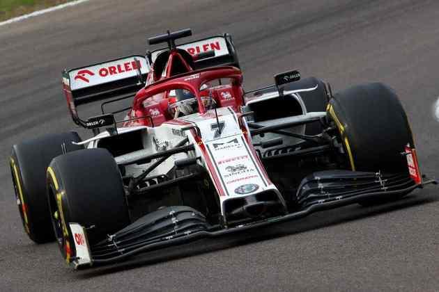 9º - Kimi Räikkönen (Alfa Romeo): 7.60 - Outra boa performance para provar que merece estar no grid