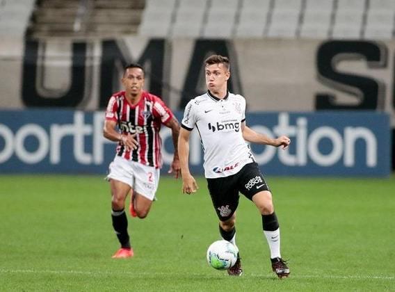 9º lugar: Lucas Piton - Corinthians - 20 anos - Lateral-esquerdo - Avaliado em: 5,5 milhões de euros (aproximadamente R$ 35,64 milhões)