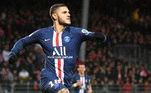 9- MAURO ICARDI – O PSG comprou o atacante Mauro Icardi por 50 milhões de euros (R$ 300 milhões de reais). O atleta pertencia à Inter de Milão, mas já estava em Paris por empréstimo desde a temporada passada.