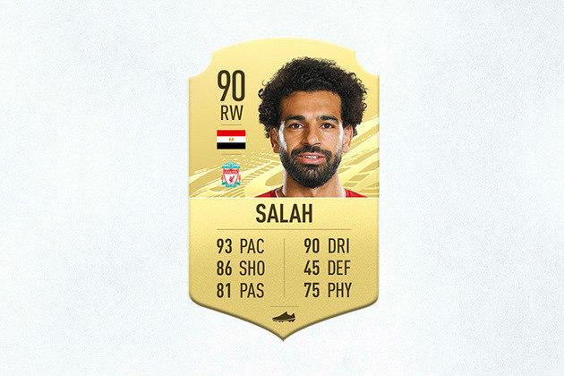 9- Mohamed Salah (Liverpool) - 90 de Overall - Assim como na vida real, Salah oferece aos gamers um chute potente com a perna esquerda e com os dribles certos, pode desmontar defesas e anotar golaços