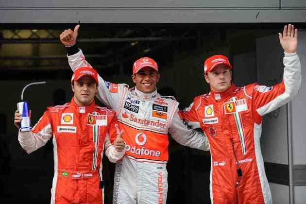 9 - O GP da China de 2008 marcou a nona vitória de Lewis Hamilton na Fórmula 1 e o aproximou do primeiro título mundial, antes do GP do Brasil