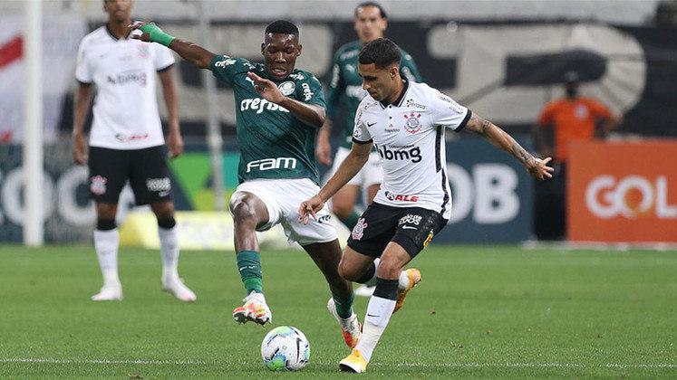 9ª rodada - Corinthians 0 x 2 Palmeiras: Cássio; Fagner, Gil, Danilo Avelar e Lucas Piton; Gabriel e Cantillo; Ramiro, Otero e Gustavo Silva; Jô.