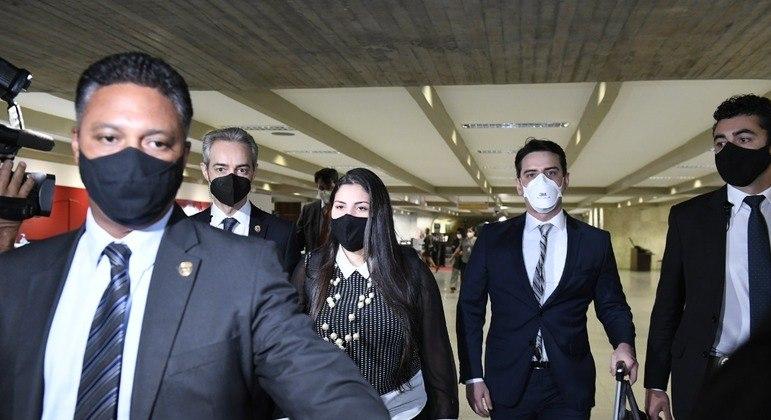 A advogada Bruna Morato chega ao Senado Federal para depor na CPI da Covid