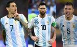 """A Argentina enfrentará o Brasil pelas Eliminatórias no próximo dia 5 de setembro. A Associação de Futebol Argentino (AFA) ainda negocia com a FIFA e as entidades que comandam o futebol europeu, porém assim como a Seleção Brasileira, os 'Hermanos"""" possivelmente sofrerão com os vetos das ligas inglesa, espanhola e italiana na lista de convocados. Conheça os jogadores escolhidos da Argentina ainda sem as possíveis mudanças!"""