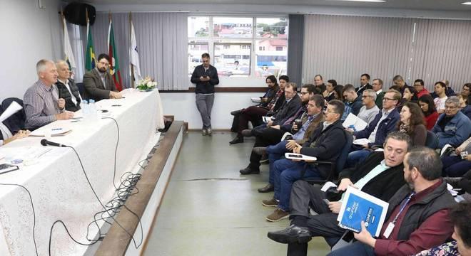 A assembleia aconteceu na terça-feira em Santa Cruz do Sul Crédito: Bruno Pedry / Gazeta do Sul / CP
