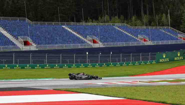 A ausência de público é outra novidade no GP da Áustria