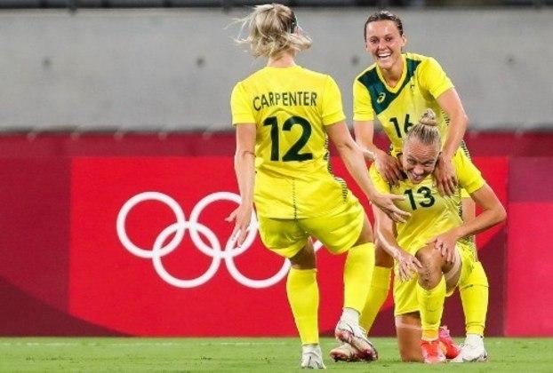 A Austrália venceu a Nova Zelândia por 2 a 1 e encostou na Suécia pelo Grupo G. Na próxima rodada, as australianas encaram as suecas na disputa pela liderança.
