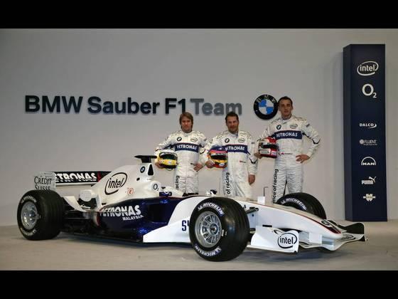 A BMW tinha o alemão Nick Heidfeld e o jovem polonês Robert Kubica, em seus primeiros passos na Fórmula 1.
