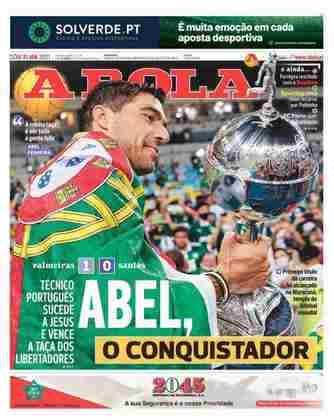 A Bola - Mais um jornal português deu destaque para o treinador Abel Ferreira.
