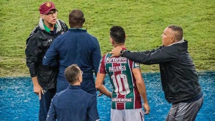 A campanha instável da equipe no Brasileirão de 2019 ficou marcada por um atrito no empate em 1 a 1 com o Santos. Ao ser sacado por Oswaldo de Oliveira, Ganso não poupou irritação: