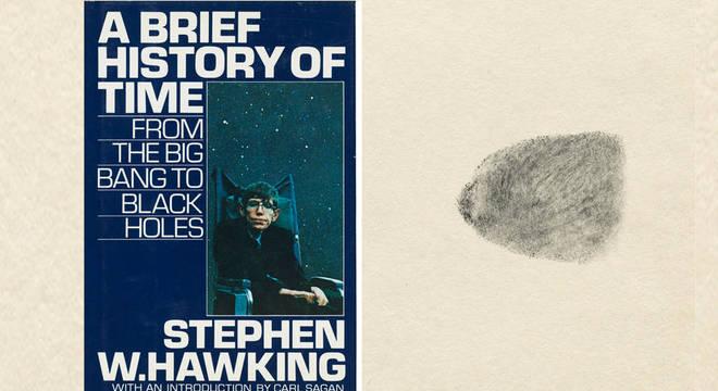 Uma cópia do best-seller de Hawking, 'Uma breve história do tempo', a ser leiloada traz uma impressão digital dele