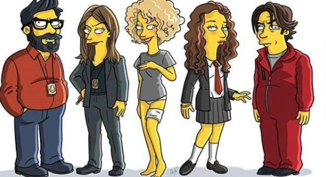Elenco De La Casa De Papel Ganha Versão Inspirada Nos The Simpsons