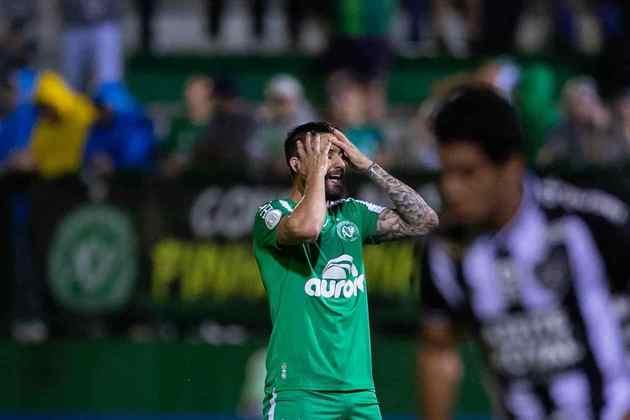 A Chapecoense está na vigésima sexta posição do ranking, com 18 goleadas em 228 jogos no Brasileiro dos pontos corridos.