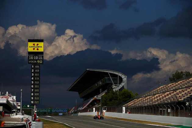 A chuva ameaçou o GP da Espanha, mas não apareceu durante as 66 voltas