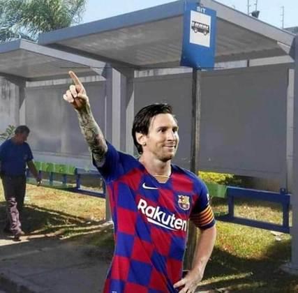 A comemoração de Lionel Messi após marcar o gol também rendeu brincadeiras