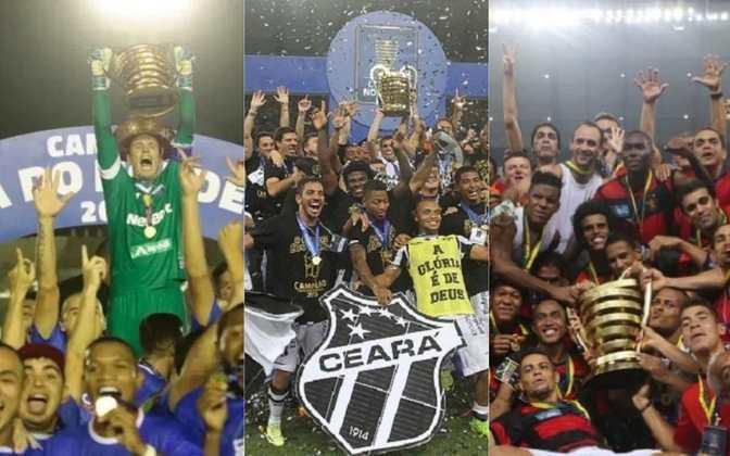 A Copa do Nordeste já reservou grandes momentos em sua história. A primeira edição aconteceu em 1994 e não ocorreram disputas de 2004 a 2009. Relembre os campeões de cada edição do torneio!