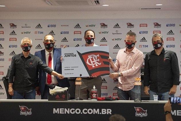 A diretoria do Flamengo e o técnico Rogério Ceni