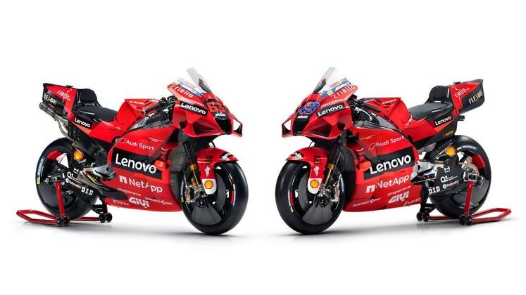 A Ducati apresentou motos mais vermelhas e com presença de novo patrocinador